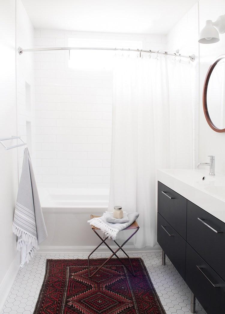Black Ikea Vanity In White Bathroom Room For Tuesday