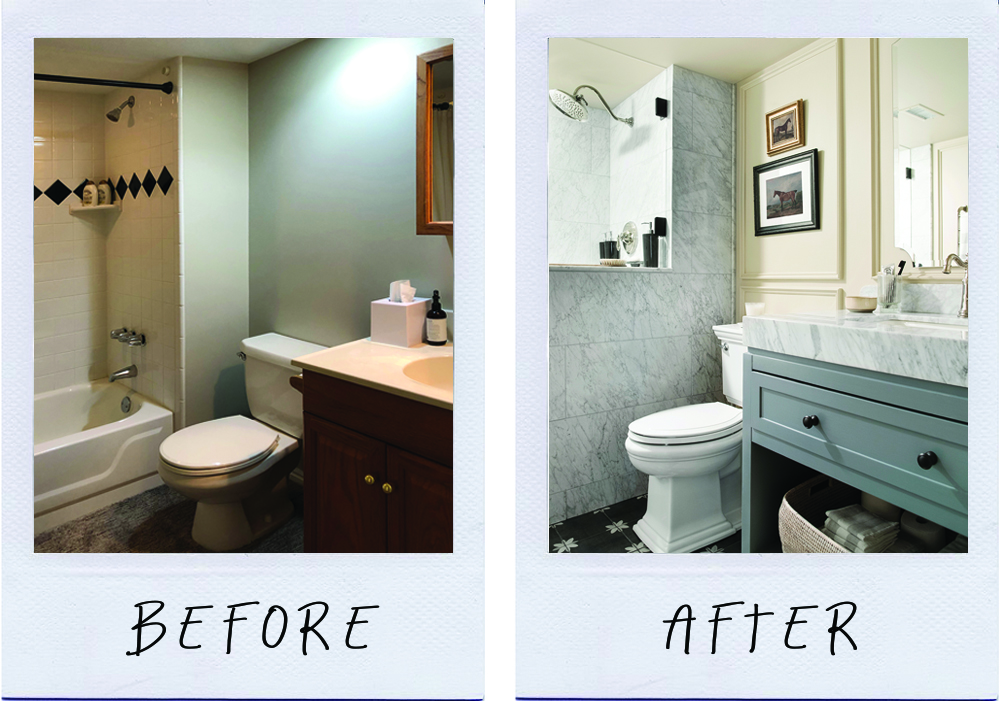 Basement Bathroom Before And After Room For Tuesday