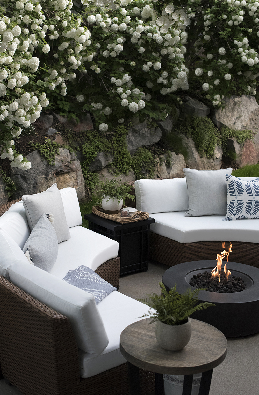 Outdoor Seating Area And Fire Pit Room For Tuesday